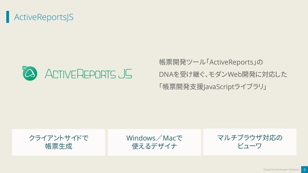 ActiveReportsJS 6 GrapeCity Developer Solutions...