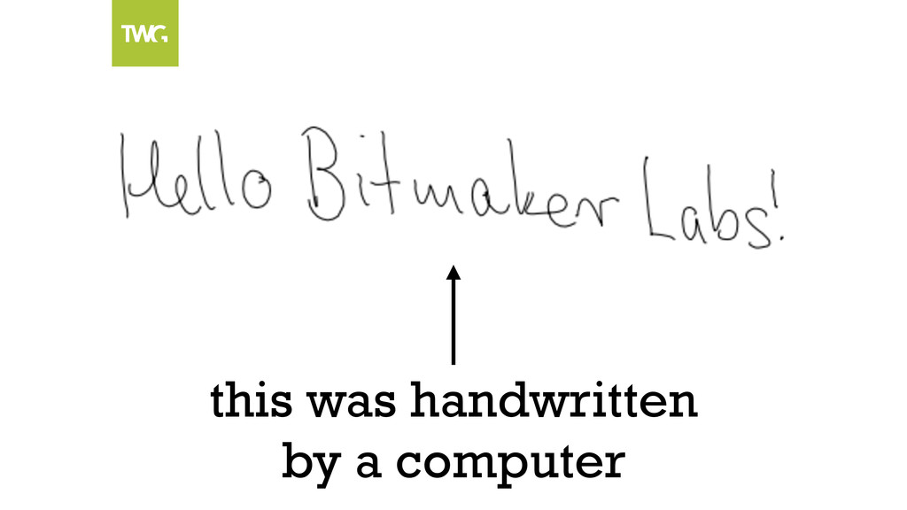 this was handwritten by a computer