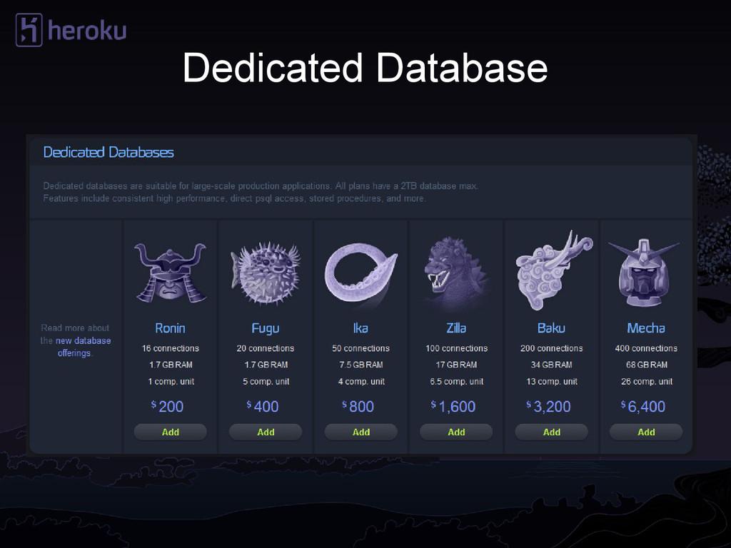 Dedicated Database