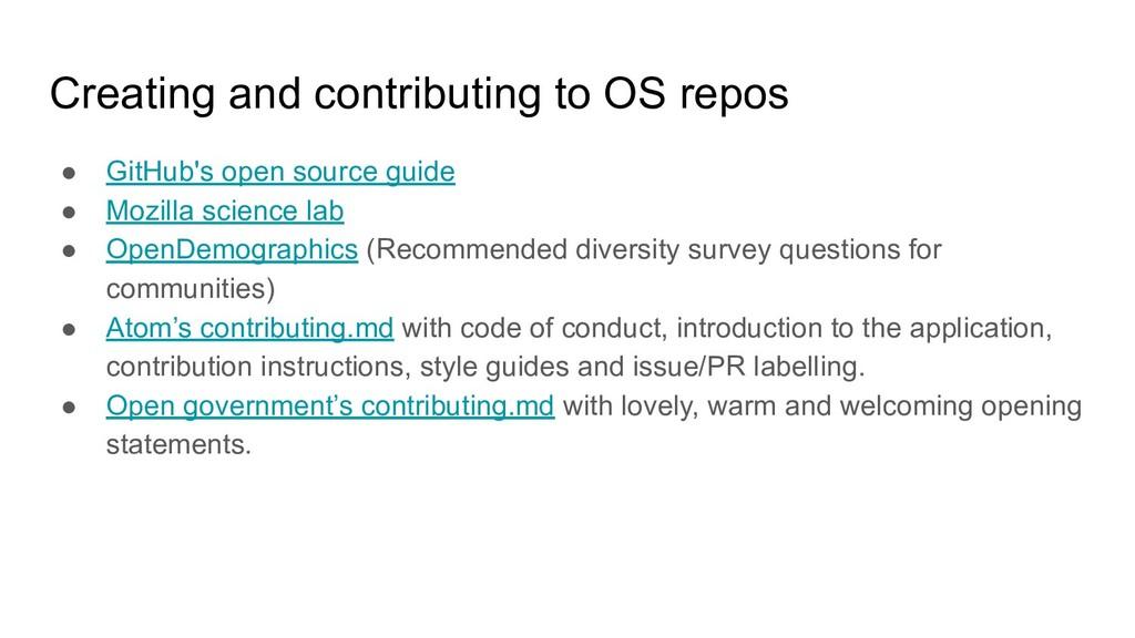 Creating and contributing to OS repos ● GitHub'...
