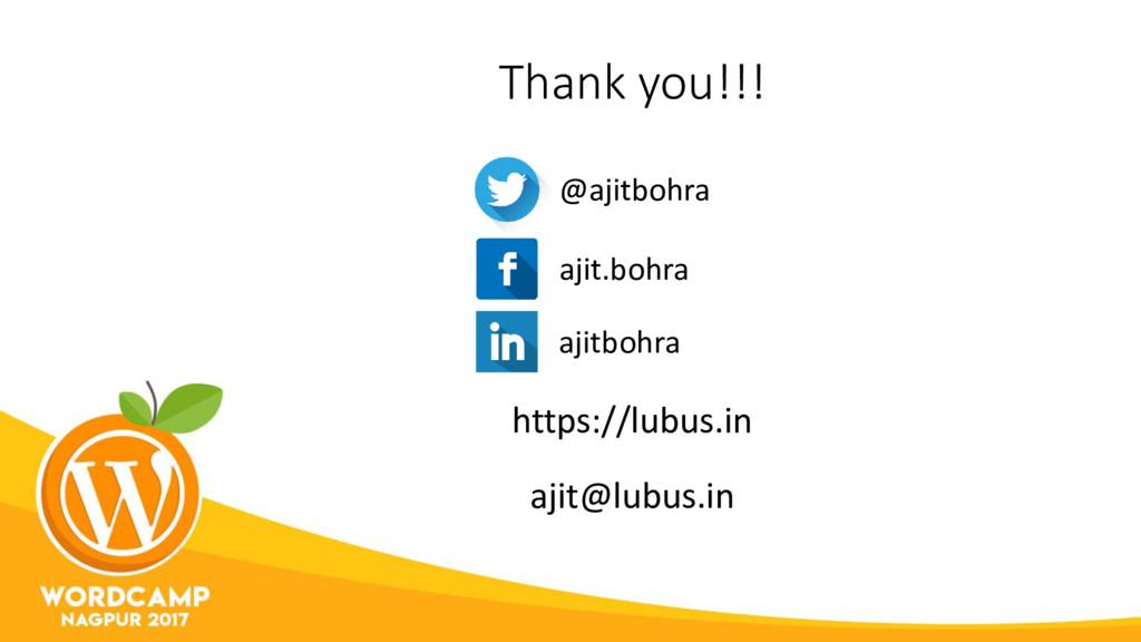 Thank you!!! https://lubus.in @ajitbohra ajit.b...