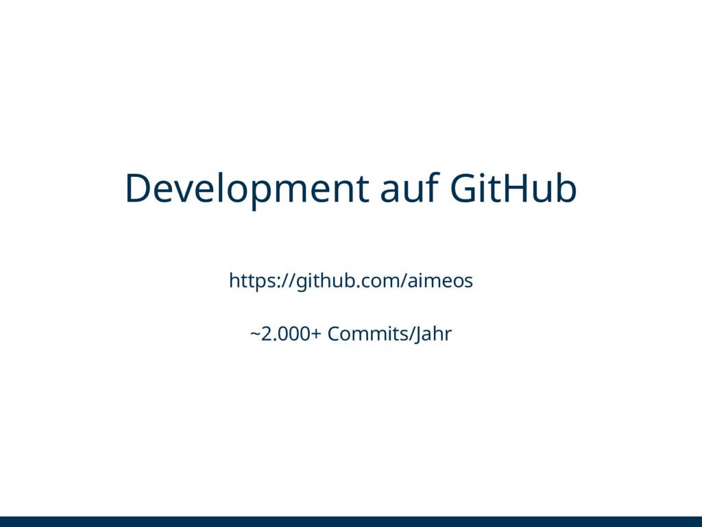 Development auf GitHub https://github.com/aimeo...