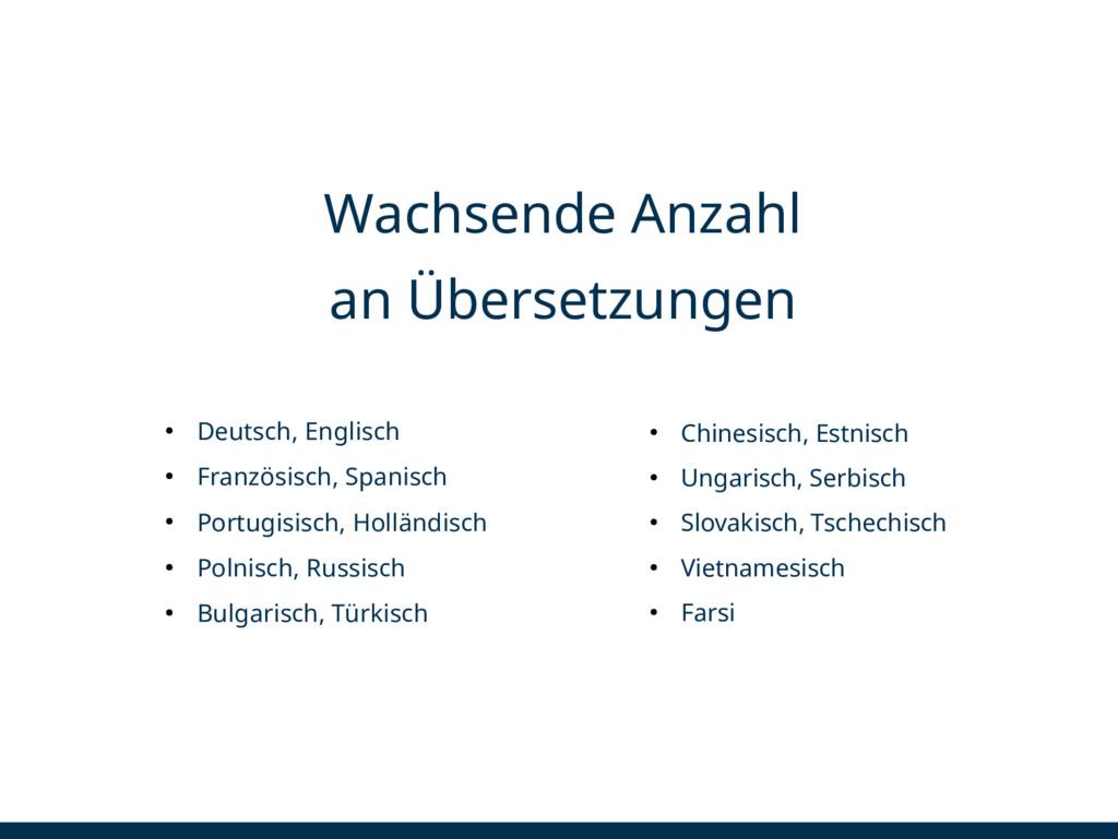 ● Deutsch, Englisch ● Französisch, Spanisch ● P...