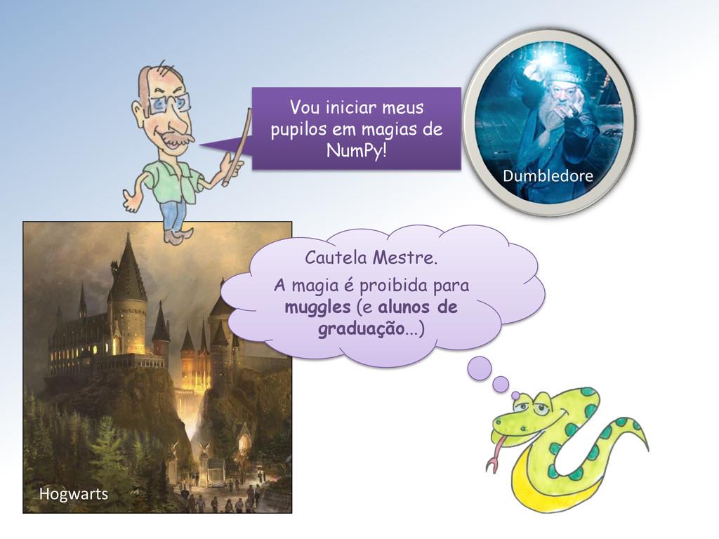 Hogwarts Dumbledore Cautela Mestre. A magia é p...