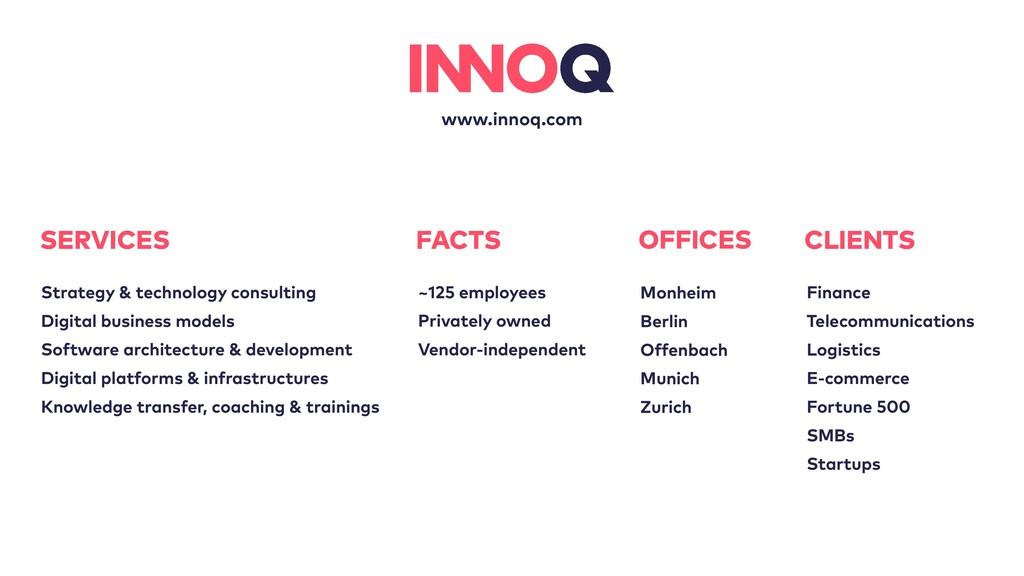 www.innoq.com OFFICES Monheim   Berlin   Offenb...