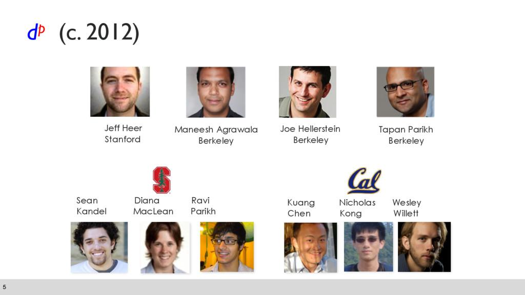 dp (c. 2012) 5 Jeff Heer Stanford Tapan Parikh...