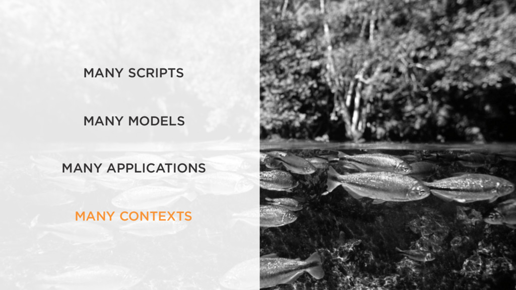 MANY SCRIPTS MANY MODELS MANY APPLICATIONS MANY...