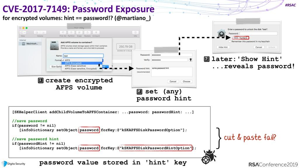 #RSAC CVE-2017-7149: Password Exposure for encr...