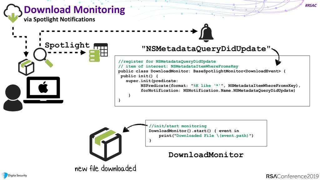#RSAC Download Monitoring via Spotlight Notific...