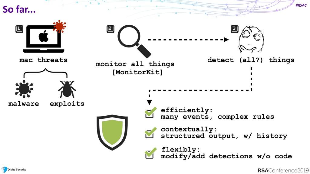 #RSAC So far... mac threats monitor all things ...