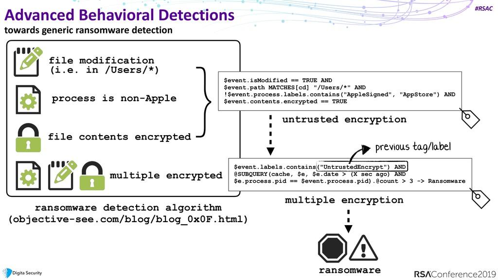 #RSAC Advanced Behavioral Detections towards ge...