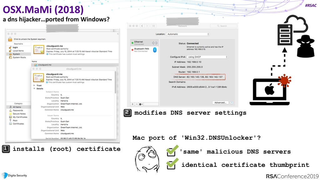 #RSAC OSX.MaMi (2018) a dns hijacker…ported fro...