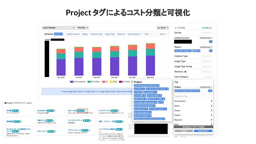 Project タグによるコスト分類と可視化
