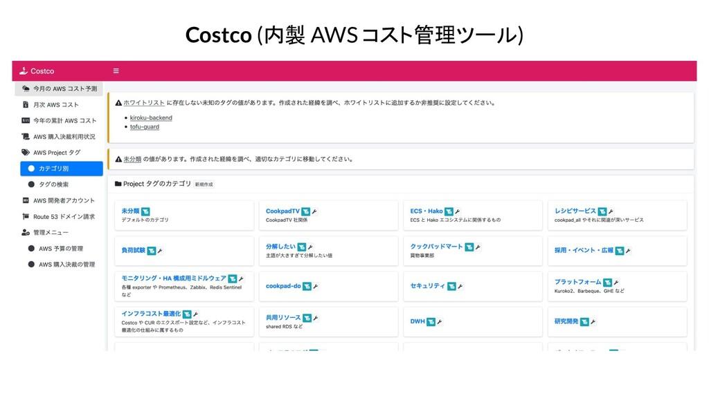 Costco (内製 AWS コスト管理ツール)