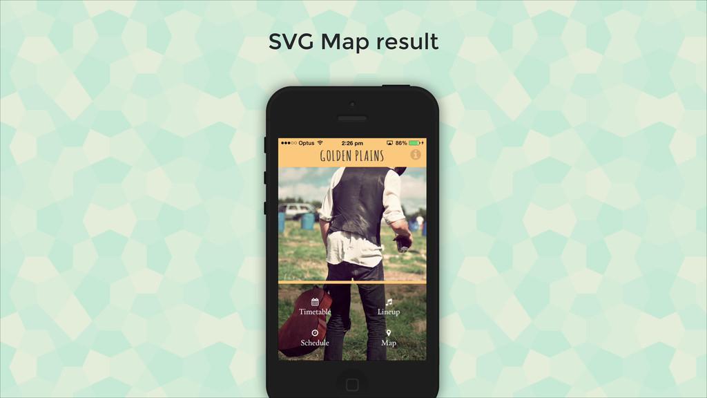 SVG Map result