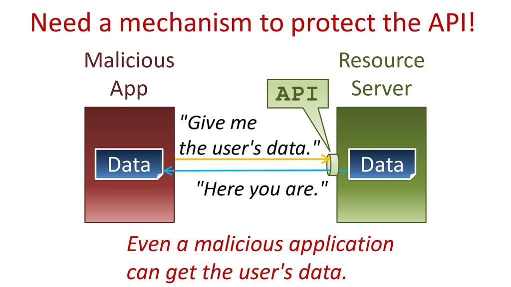 "Malicious App Resource Server API ""Give me the ..."
