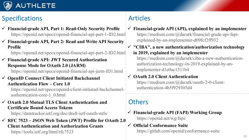 53 ü Financial-grade API, Part 1: Read-Only Sec...