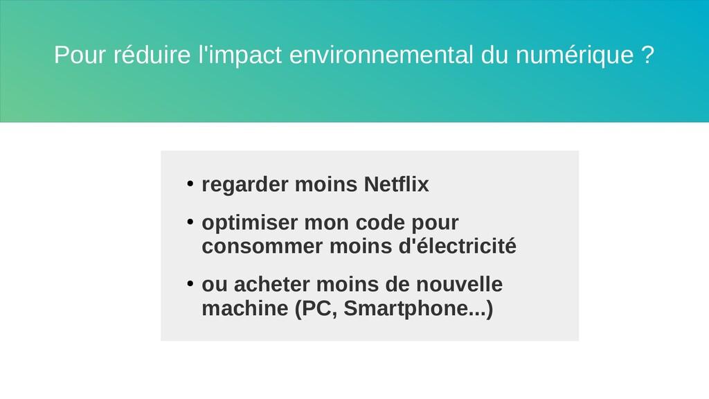 Pour réduire l'impact environnemental du numéri...