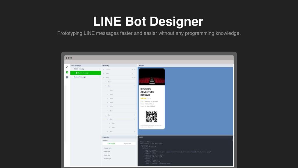 LINE Bot Designer Prototyping LINE messages fas...