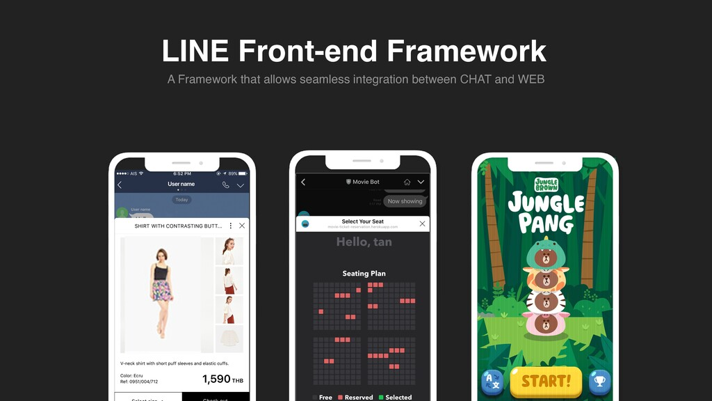 LINE Front-end Framework A Framework that allow...
