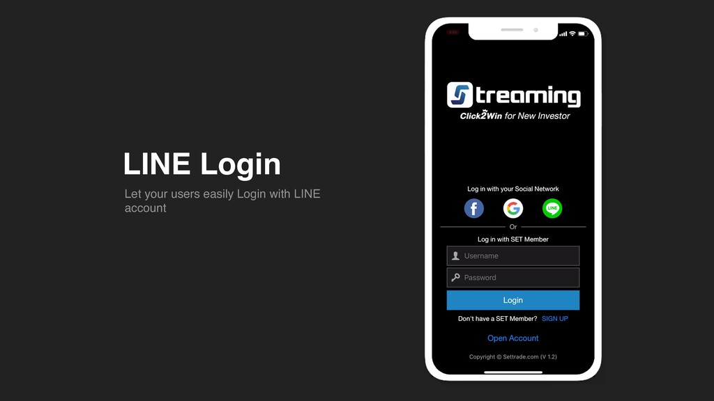 LINE Login Let your users easily Login with LIN...