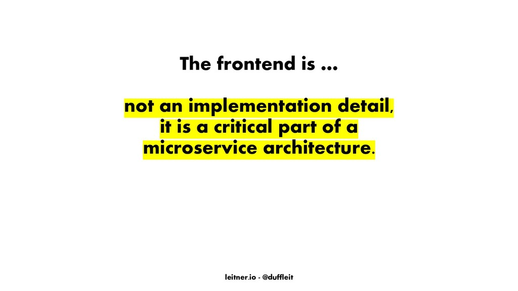 leitner.io - @duffleit The frontend is … not an...
