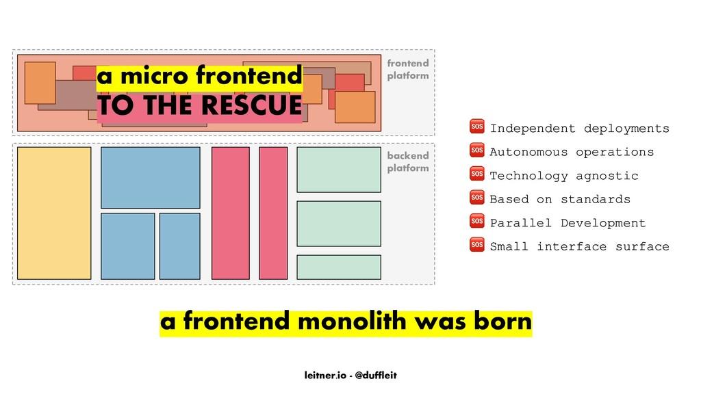 leitner.io - @duffleit frontend platform backen...