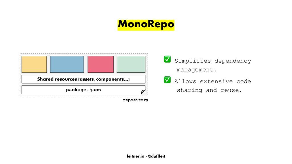 leitner.io - @duffleit MonoRepo Simplifies depe...