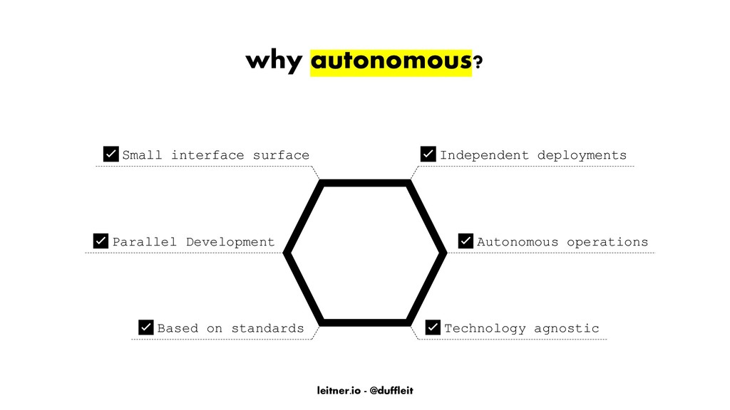 leitner.io - @duffleit why autonomous? ✅Indepen...
