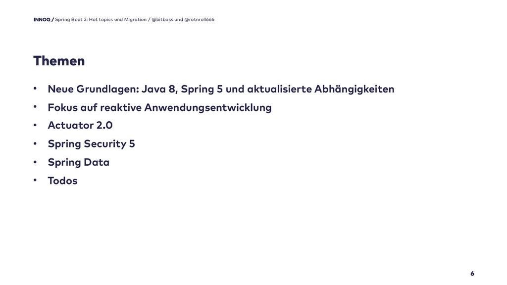 Themen 6 • Neue Grundlagen: Java 8, Spring 5 un...