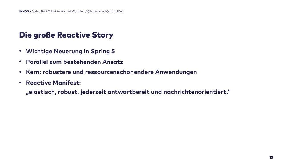 Die große Reactive Story 15 Spring Boot 2: Hot ...