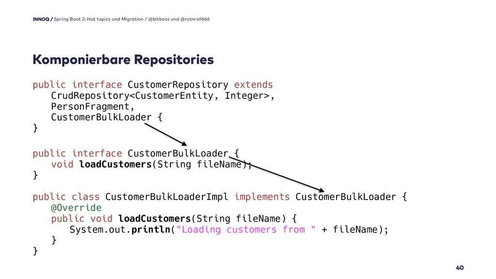 Komponierbare Repositories 40 Spring Boot 2: Ho...