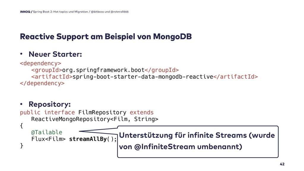 • Neuer Starter: • Repository:   Reactive S...