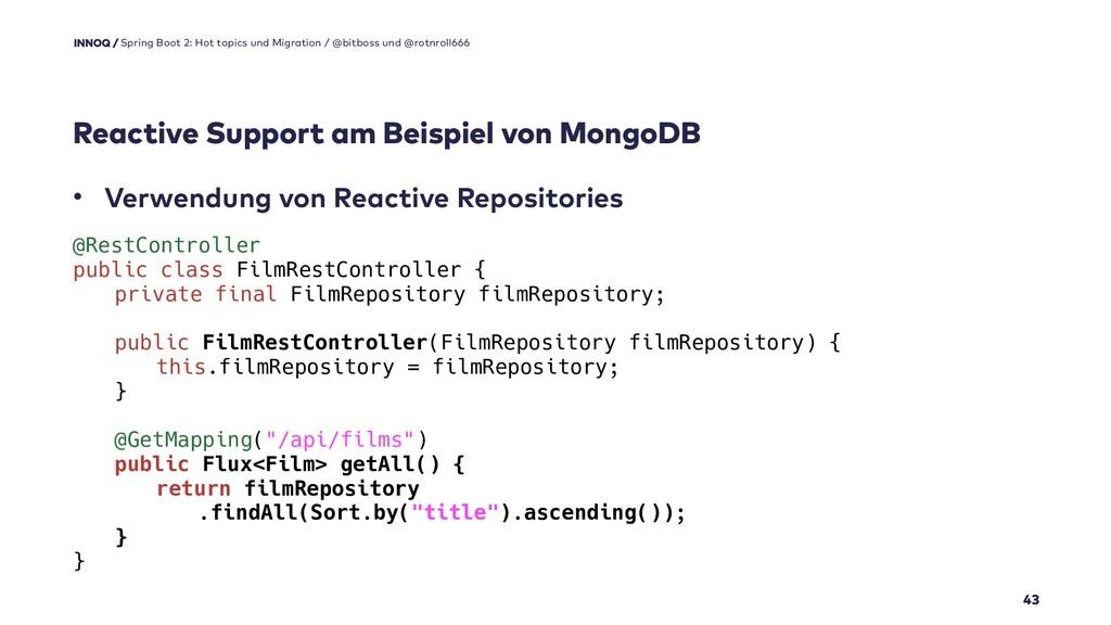 Reactive Support am Beispiel von MongoDB 43 Spr...