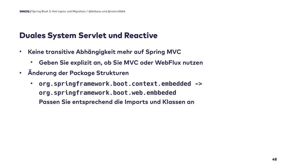 Duales System Servlet und Reactive 48 Spring Bo...