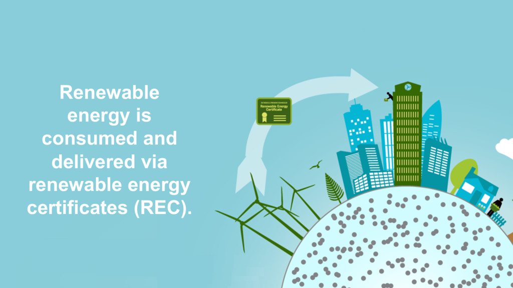 Renewable energy is consumed and delivered via ...