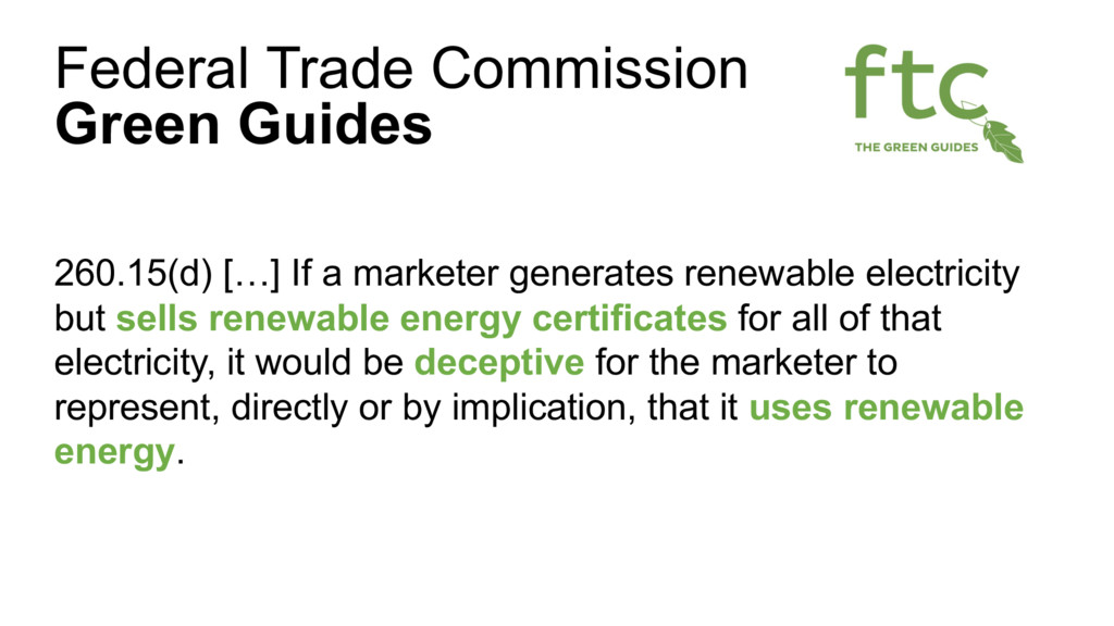 260.15(d) […] If a marketer generates renewable...