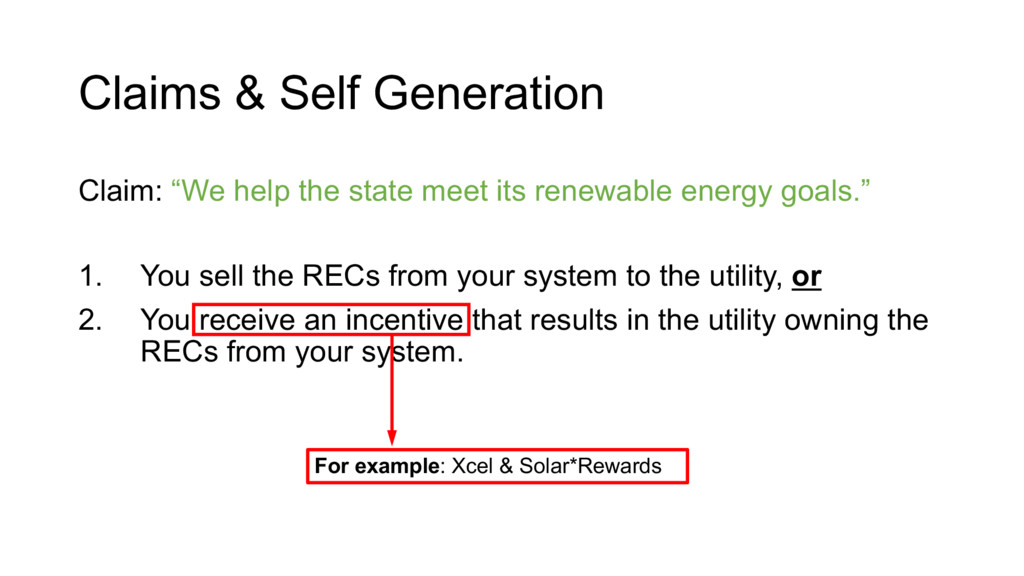 """Claims & Self Generation Claim: """"We help the st..."""