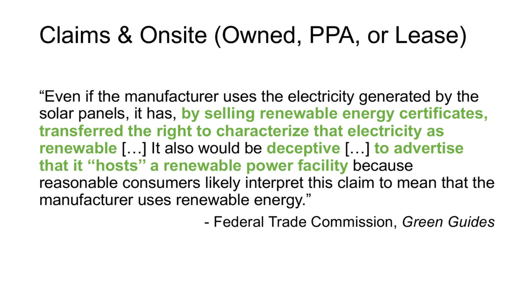 """Even if the manufacturer uses the electricity ..."