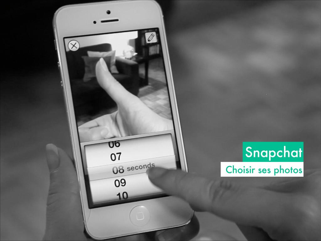 Snapchat Choisir ses photos