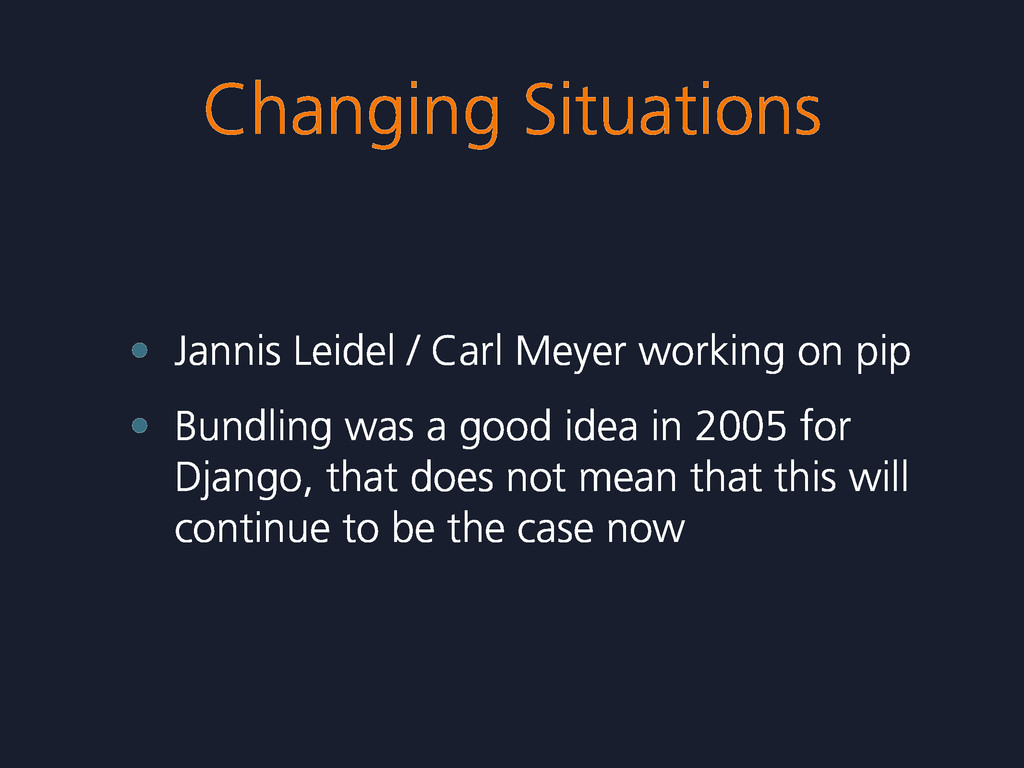 Changing Situations • Jannis Leidel / Carl Meye...