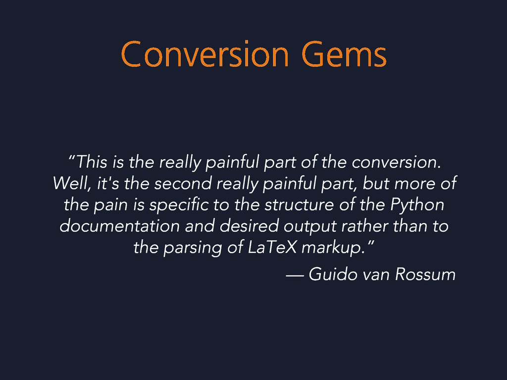 "Conversion Gems ""This is the really painful par..."