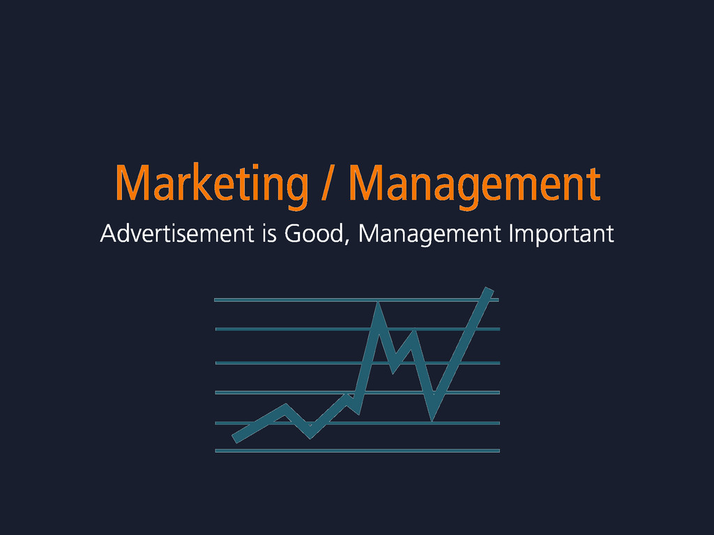 Marketing / Management Advertisement is Good, M...