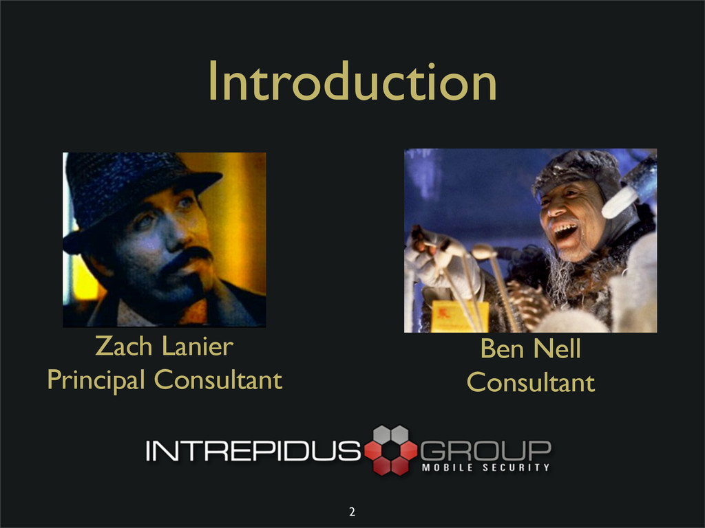 Introduction Zach Lanier Principal Consultant B...