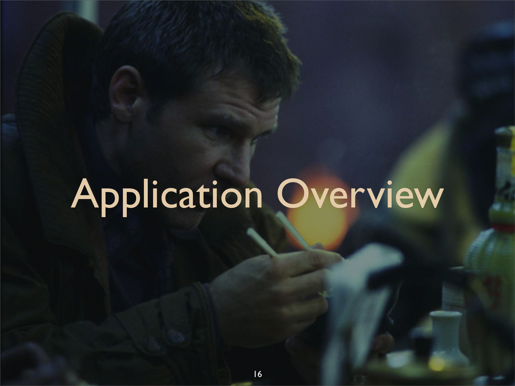 Application Overview 16