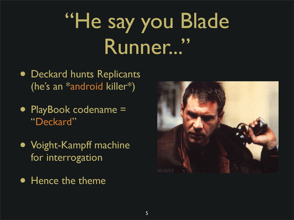 """He say you Blade Runner..."" • Deckard hunts Re..."