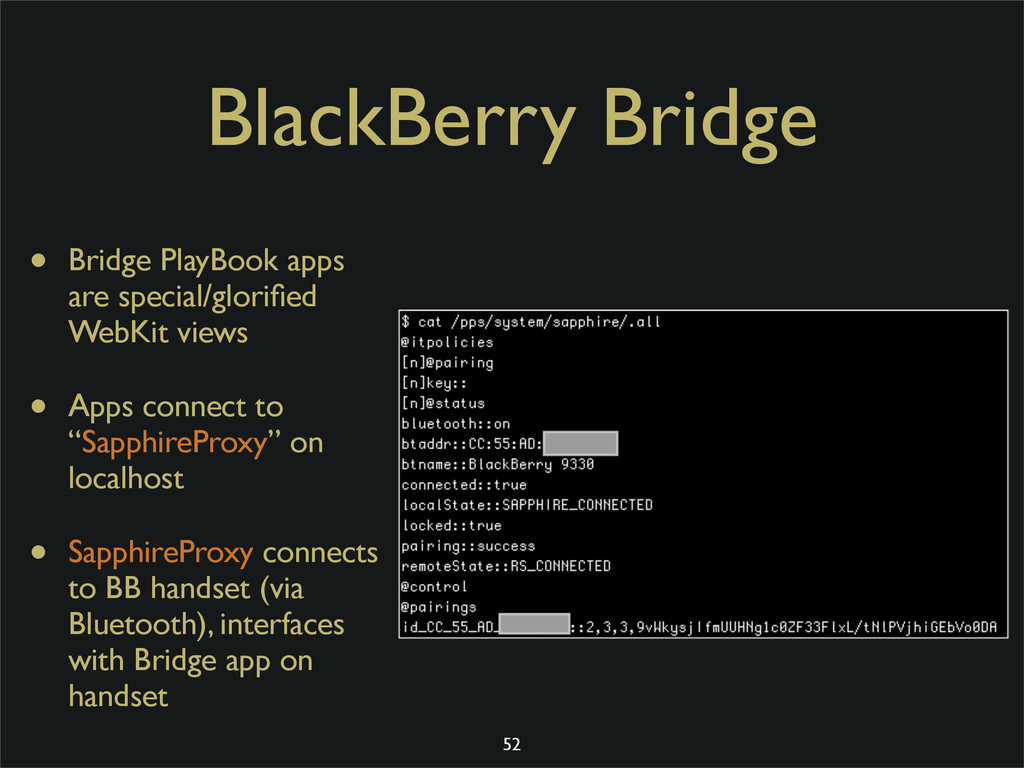 BlackBerry Bridge • Bridge PlayBook apps are sp...