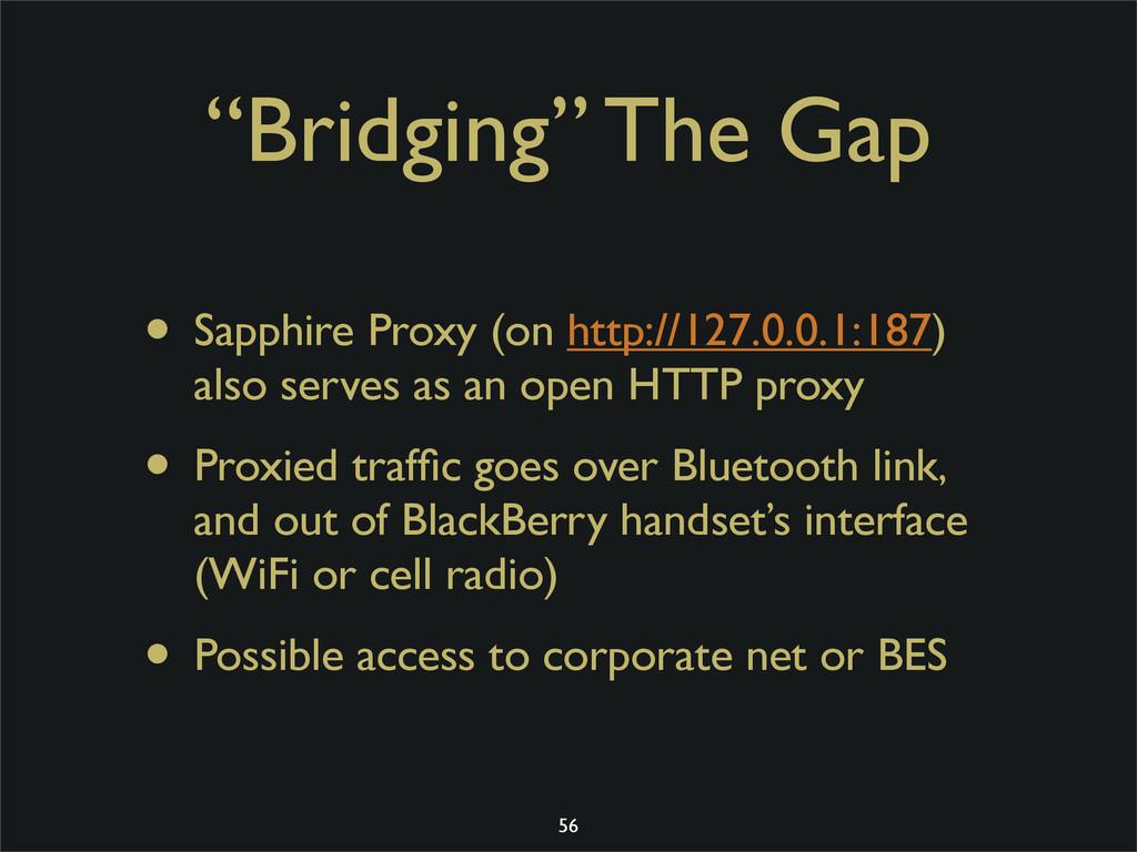 """""""Bridging"""" The Gap • Sapphire Proxy (on http://..."""