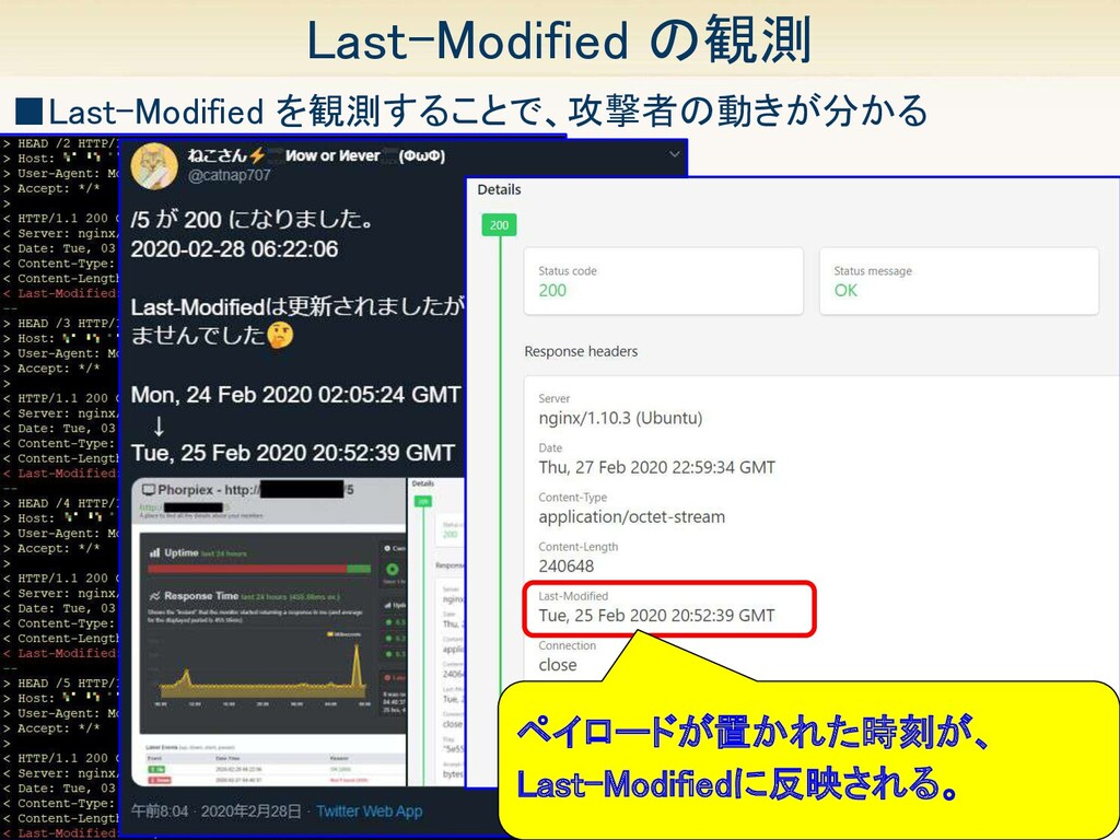 43 Last-Modified の観測 ■Last-Modified を観測することで、攻...