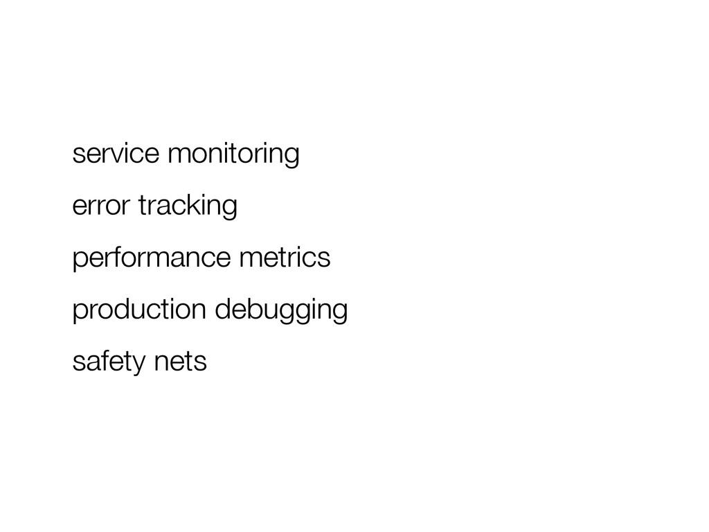 service monitoring error tracking performance m...